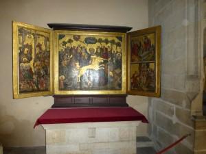 Trittico di Lucas Cranach il Vecchio nella cattedrale di Erfurt.